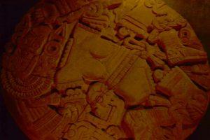 Diosa mexica Lacoyolxauhqui, la adornada de cascabeles, Templo Mayor, Ciudad de México