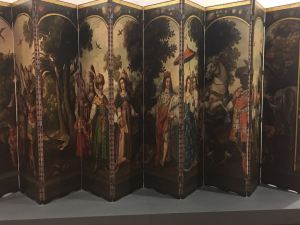 Juan Correa (Mexico 1646-1716). The Four parts of the World, Folding screen with then sheets c 1670-171