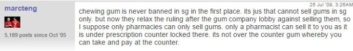 Legal things in Singapore_chewing gum legal_FORUM