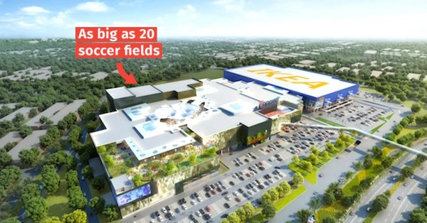Toppen Shopping Centre In JB Is An Open-Concept Mall With An Integrated IKEA, Opens 13 Nov
