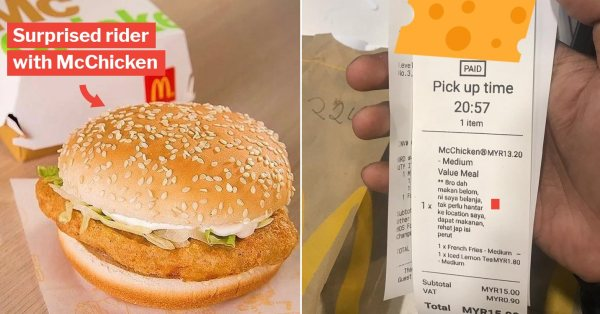 Customer Orders McDonald's On Foodpanda, Tells Rider It's Actually A Treat For Him