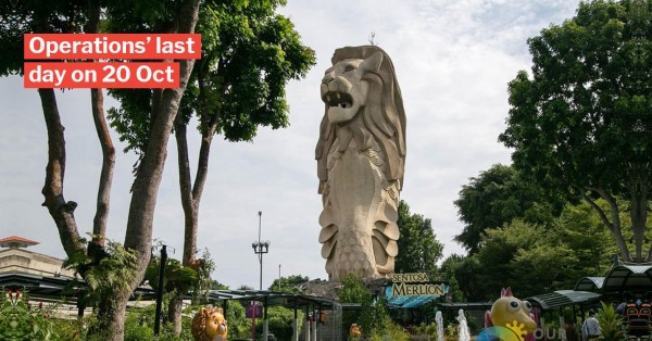 Iconic Merlion Statue At Sentosa Will Be Demolished After 21 Oct To Make Way For New Linkway