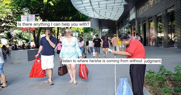 S'porean Social Worker Tells Us How To Respond To The Needy Other Than Giving Money Or Walking Away