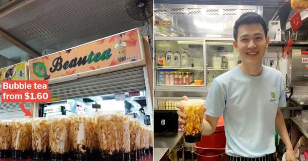 Bukit Merah Food Centre's Cheap Bubble Tea & Handsome Oppa Draw Thirsty Crowds