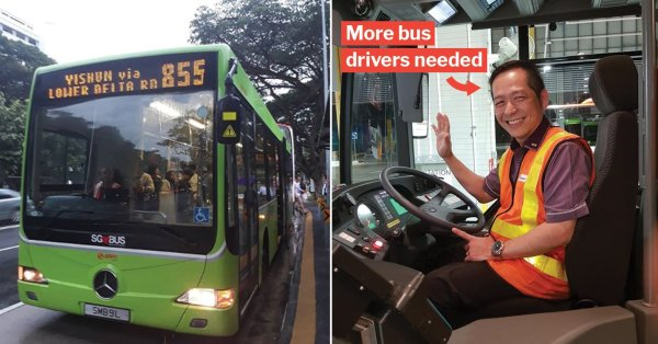 New Bus Drivers In S'pore Offered Up To $3,500 Salary & 21 Days Leave Due To Manpower Shortage