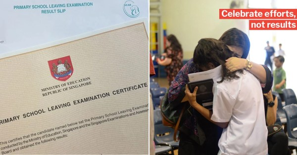 MOE Advises Parents To Celebrate Children's Efforts & Not Grades On PSLE Results Day