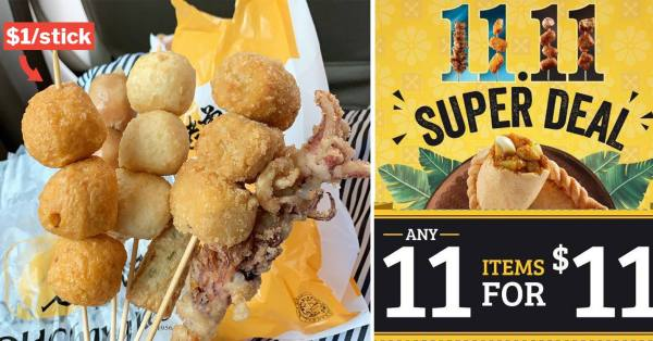 Old Chang Kee 11 Nov Deal Lets You Snack On Any 11 Items For Just $11