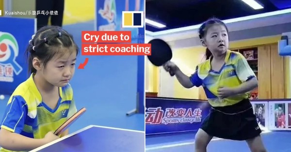 6-Year-Old Often Cries When Training, But Emerges A Table Tennis Champ In National Competition