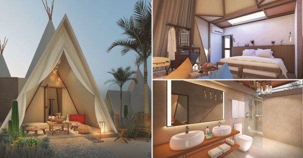 Glamping Resort In Bintan Has Desert-Themed Tepee Tents & Is Only 50 Minutes From S'pore