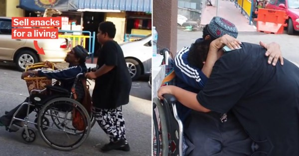 Uncle In Wheelchair Cries With Nephew After Kind Stranger Offers To Buy Entire Basket Of Snacks