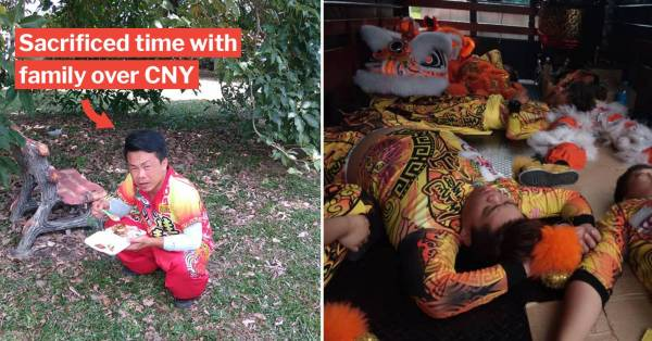 Lion Dancers' Sacrifices Highlighted In Poignant FB Post, Netizen Urges Others To Be Understanding