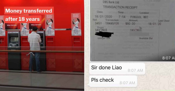 S'porean Repays $80 He Borrowed While In NS 18 Years Later, Proves People Can Change