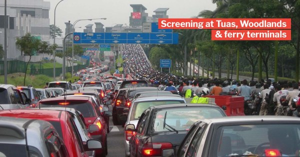 S'pore Ferry Terminals, Tuas & Woodlands Checkpoints To Check Travellers' Temperatures Amid Coronavirus Outbreak