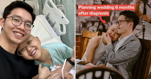 S'pore Couple Learns Lady Has Cancer 3 Months After Meeting Online, Guy Chooses To Stay