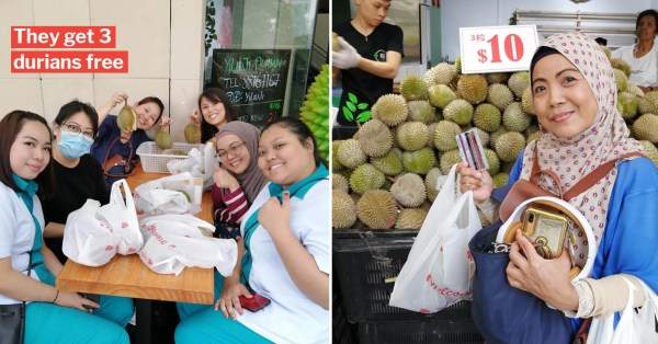 Choa Chu Kang Durian Shop Has Free Durians For Healthcare Workers Till 27 Feb, Just Show Your Pass