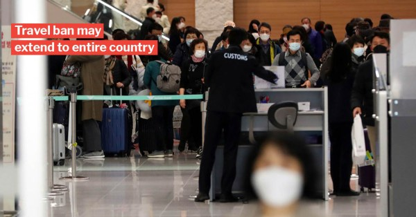 South Korea's Covid-19 Cases Surpass 1,100 As 169 More Confirmed, S'pore Travel Ban To Start Soon