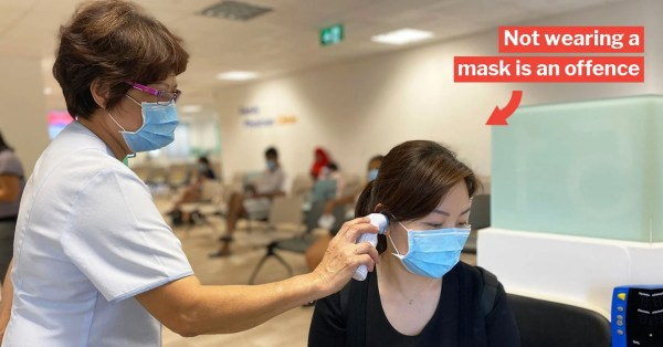 S'pore Residents On MC & SHN Must Wear Masks To See Doctor, Otherwise Risk Fine, Jail Or Both
