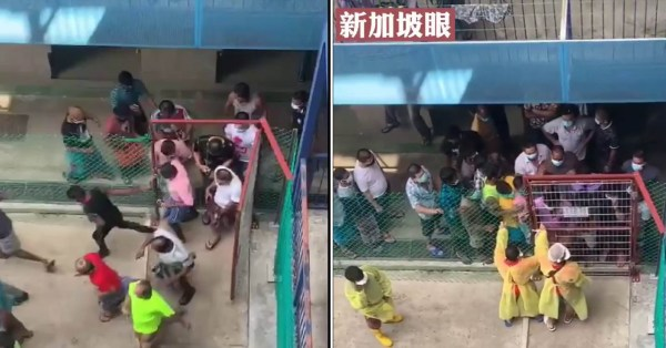 Kranji Dormitory Workers Rush To Supermarket, Netizen Stresses Importance Of Social Distancing