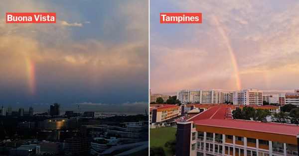 Rainbows Appear Across S'pore To Mark The End Of 'Circuit Breaker'