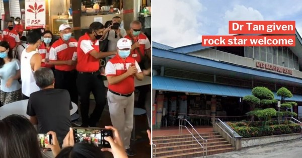 Tan Cheng Bock Walks About Ayer Rajah Estate, PSP Vs PAP Fans Engage In Chant Showdown