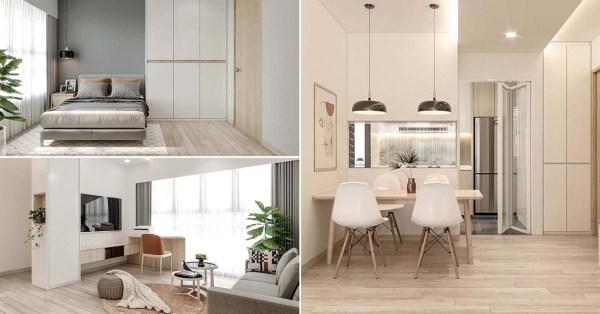 3-Room HDB Flat Transformed Into Minimalist Scandinavian Nook For $25,000