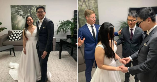 S'porean Couple In Melbourne Gets Married In 4 Hours, Right After City Declared Full Lockdown