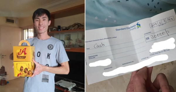 Soh Rui Yong Finds & Returns $30,000 Cheque, Gets 2 Boxes Of Curry Puffs As Thanks