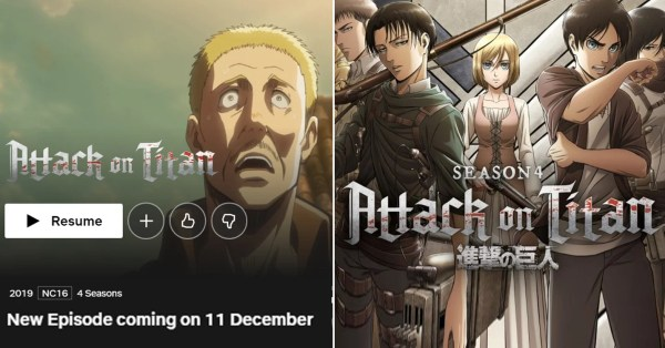 Netflix S'pore Streams Attack On Titan Season 4 From 11 Dec In Thrilling Conclusion To Beloved Anime