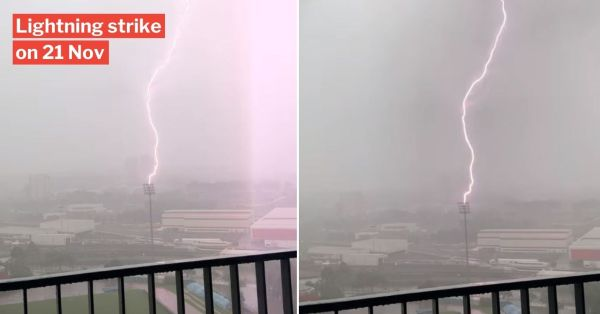 Lightning Strike At Bishan Stadium Shows Just How Scary Saturday's Thunderstorm Was