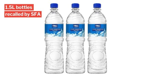 Meadows Bottled Water Recalled After SFA Finds Bacteria Inside, Consumers Advised Not To Drink It