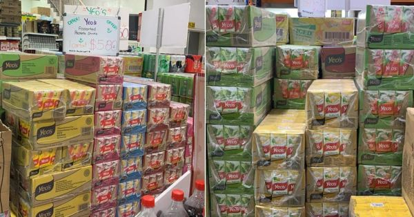 Yishun Warehouse Has Packet Drinks At $5.80/Carton, Stock Up For CNY Mahjong Seshs