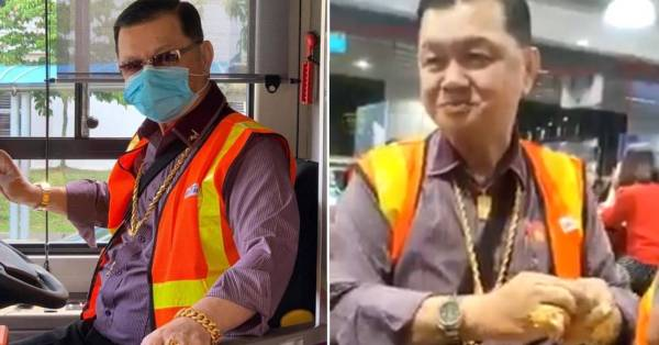 SBS Driver Decked Out In Gold Jewellery Eats Cai Png, Netizens Consider Career Switch