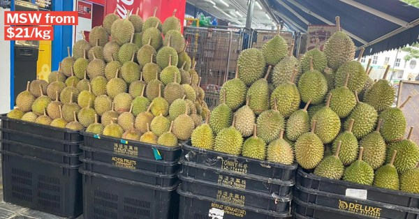 Durian Season Starts In S'pore, Sellers Offer Delivery For MSW Parties At Home