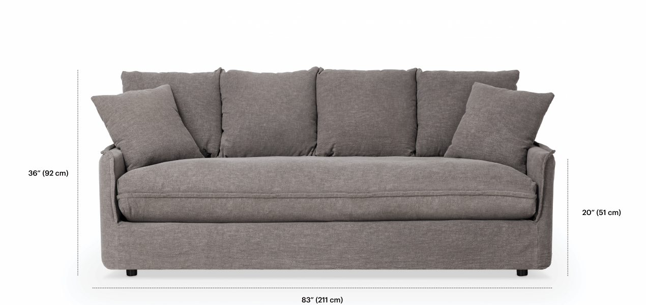 marta 3 seater sofa with removable cover must