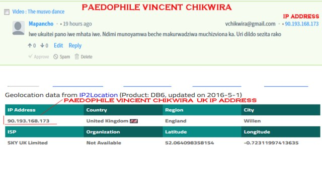 vincent chikwira UK ip address