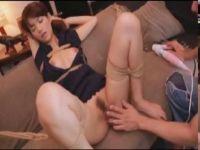 セクシー女優の麻生希が緊縛されおまんこを弄られて大量潮吹きしてる長編の無臭せい動画 高画質