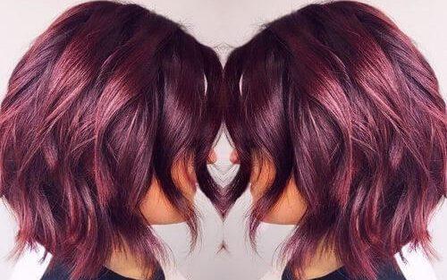 لون شعر برغندي لشعر نابض بالحياة /متألقة