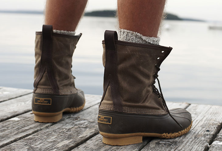 best mens winter boots | L.L. Bean Waxed Canvas Maine Hunting Shoe