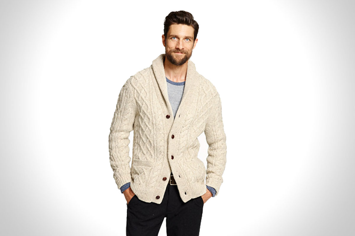 Donegal Wool Cable Knit Sweater