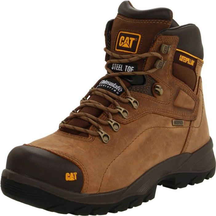 CATERPILLAR MEN'S DIAGNOSTIC STEEL TOE WATERPROOF MENS WORK BOOT   Best Mens Work Boots
