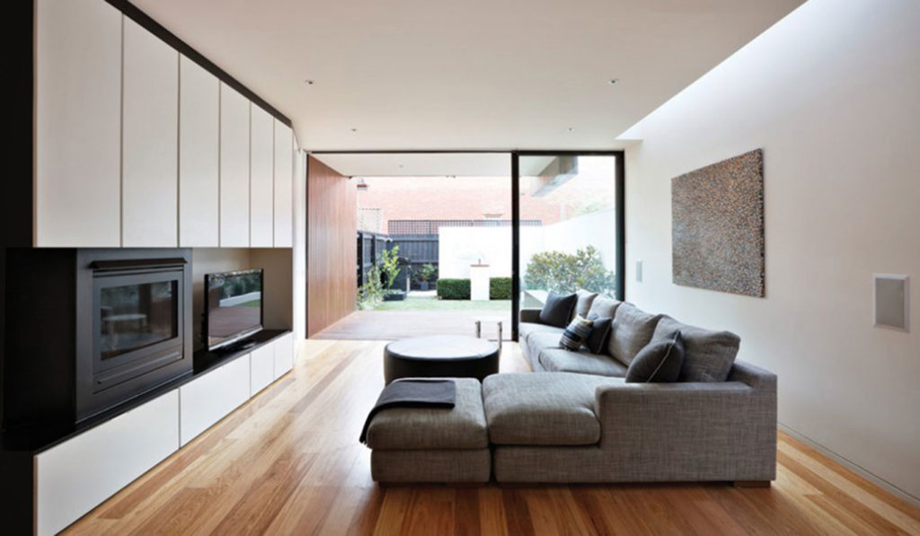 The-Nicholson-Residence-By-Matt-Gibson-Architecture-+-Design-Melbourne-Living-Room-Contemporary-Fireplace