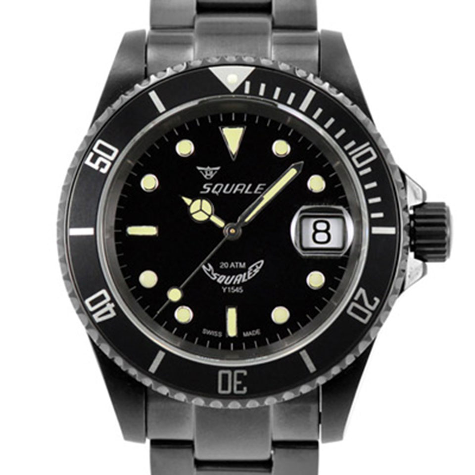 Squale 20 Atmos Classic DLC |Affordable Dive Watches