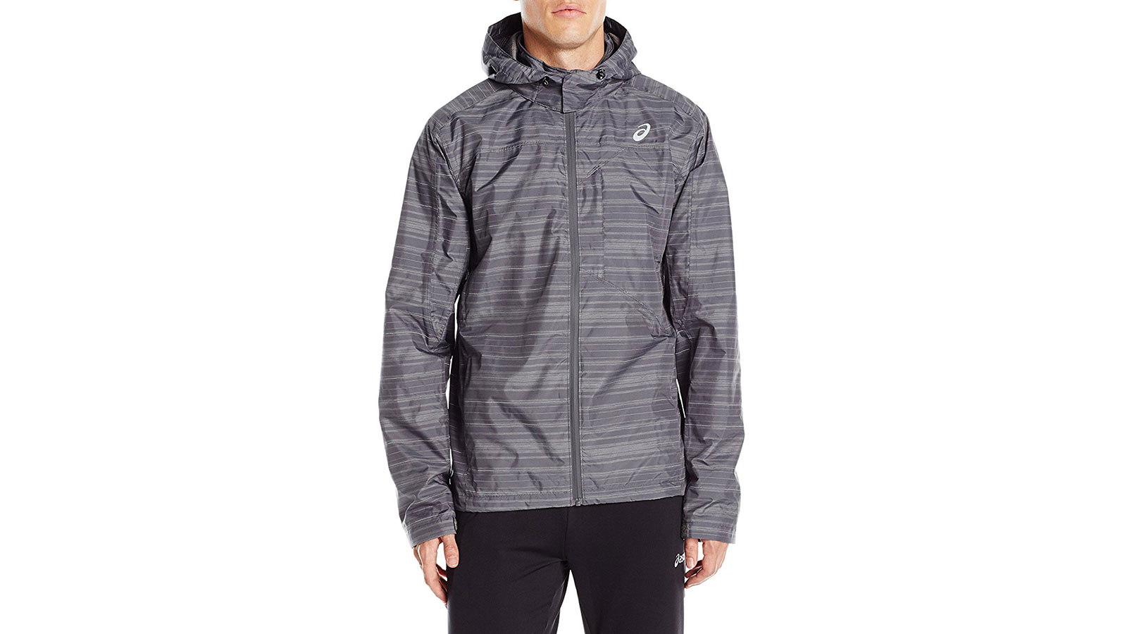 Asics Storm Shelter Running Men's Windbreaker Jacket | the best men's windbreakr jackets