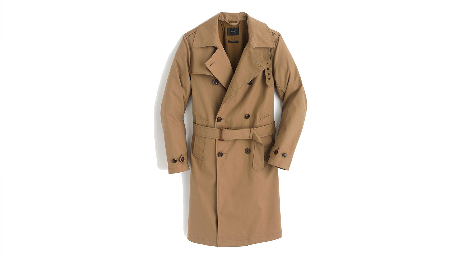 J. Crew Men's Ludlow Double-Breasted Water-Repellent Trench Coat | The Best Men's Trench Coats