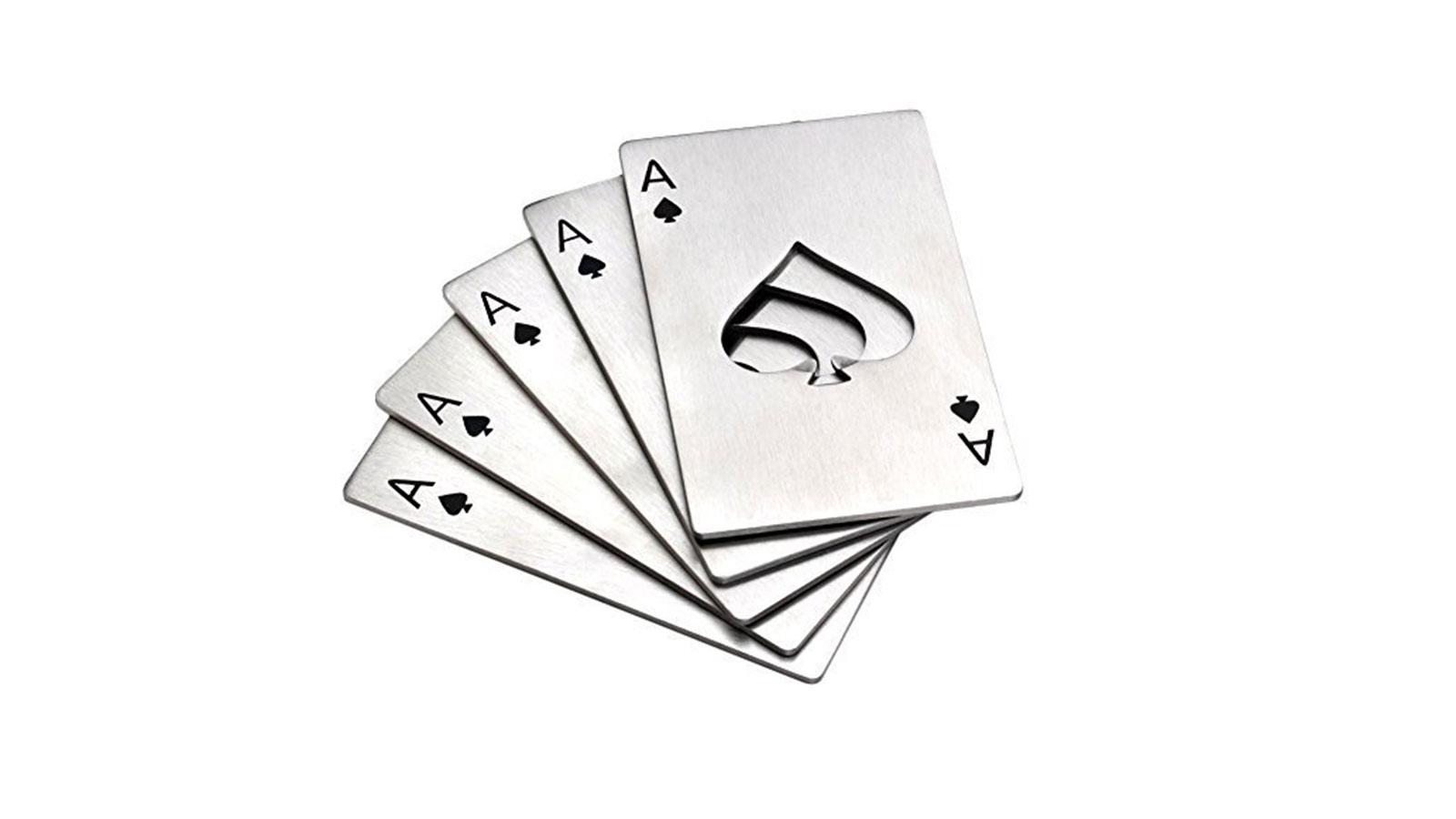 Ace Of Spades Card Wallet Bottle Opener | cool bottle openers for men