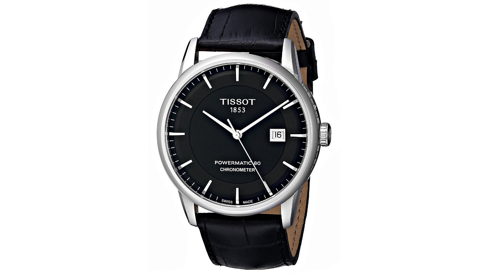 Tissot Luxury Automatic Black Dial Men's Watch   best men's watches under $1000