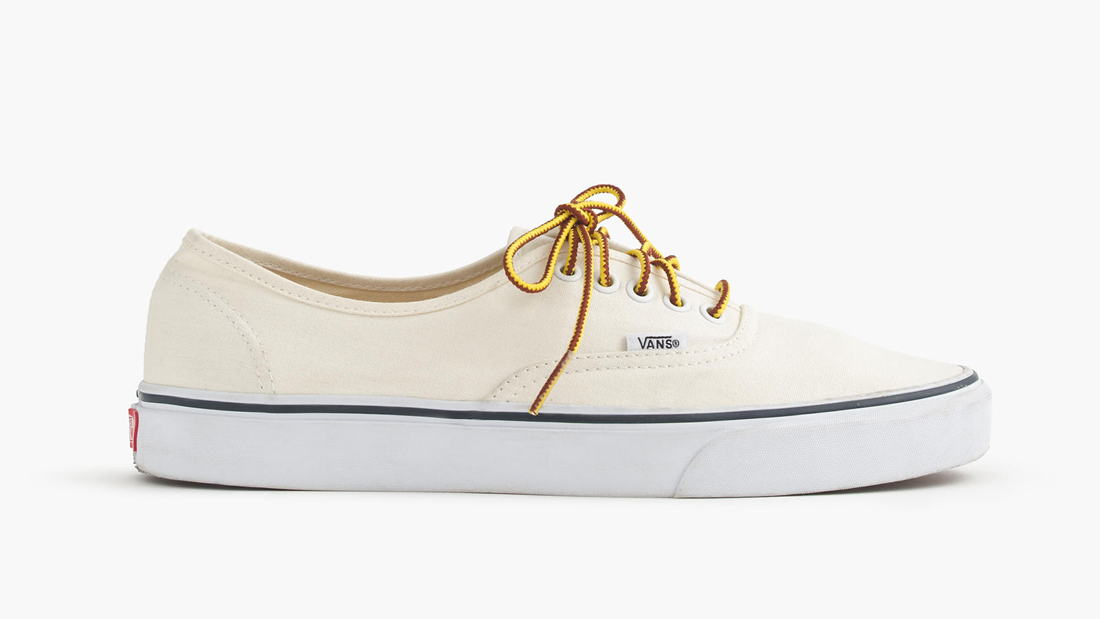 Vans for J. Crew Canvas Authentic White Men's Sneakers | best men's white sneakers
