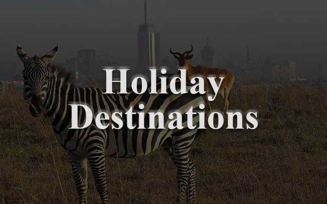 Holiday destinations website