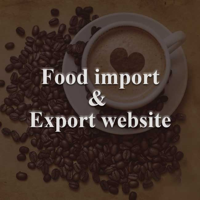 Food Import and Export Website