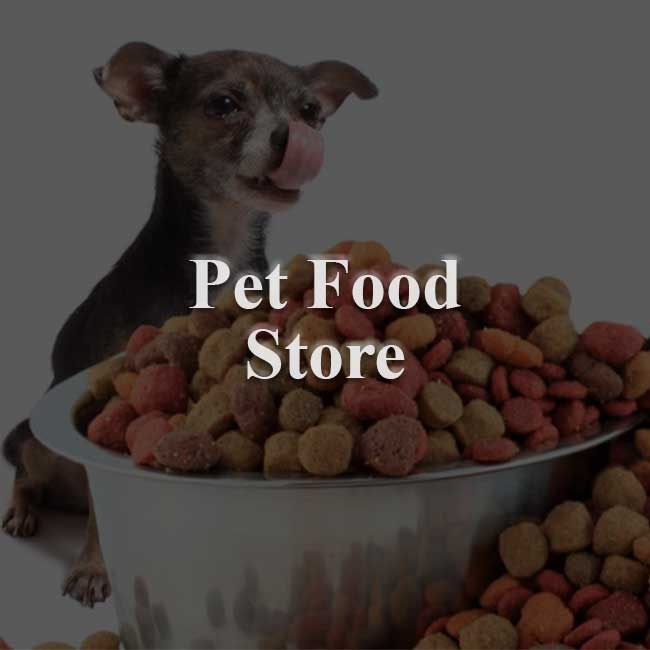 Pet food store website